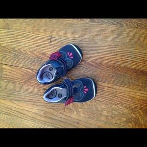 Blue Suede toddler shoes